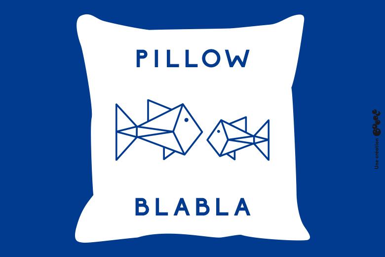pillow blabla bleu-fonce